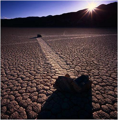 Las piedras que caminan