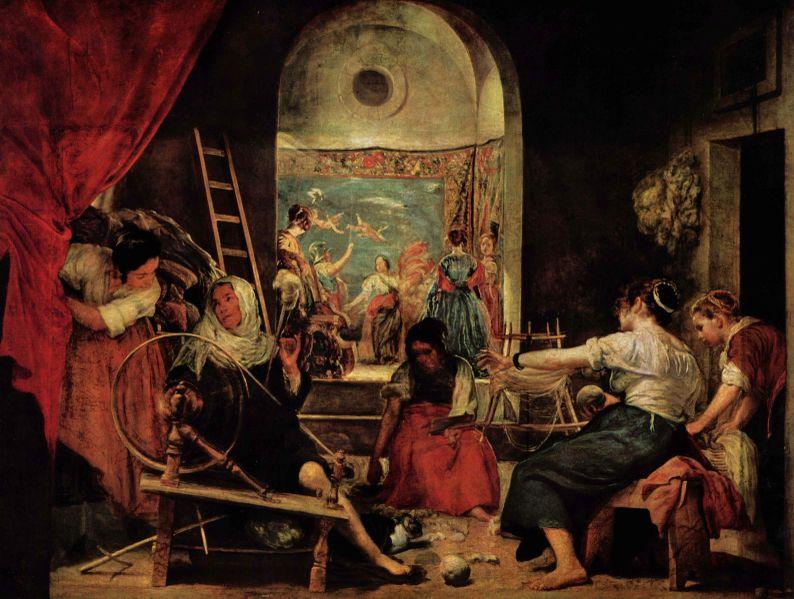 La fábula de Aracné, de Velazquez.