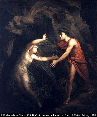 Resultado de imagen de orfeo, eurídice, persefone y hades