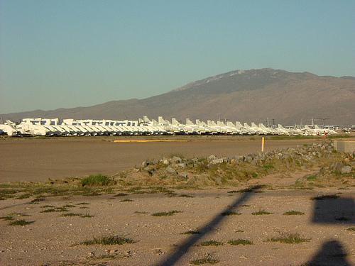 El mayor cementerio de aviones del mundo.