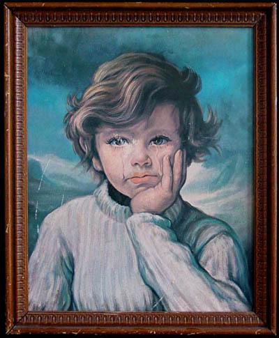 Los niños llorones. Los cuadros malditos de Bruno Amadio.