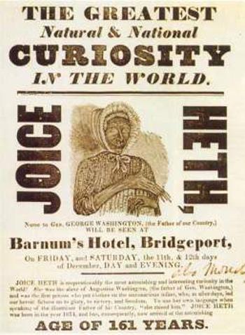 La sirena de Fiji, el circo Barnum y otros freaks de feria Joice_heth