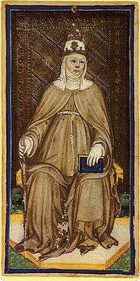 Un grabado de Juan VIII muestra la posible imágen de una mujer encinta