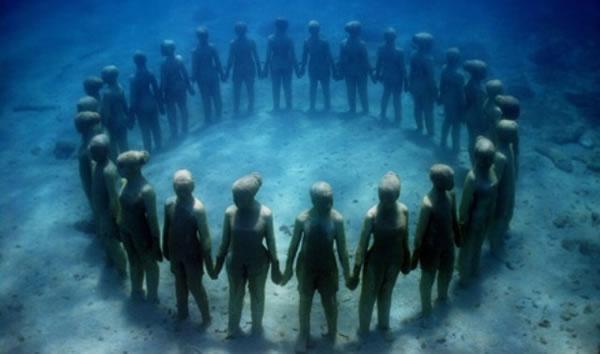 Los jardines de esculturas submarinas de Jason de Caires.