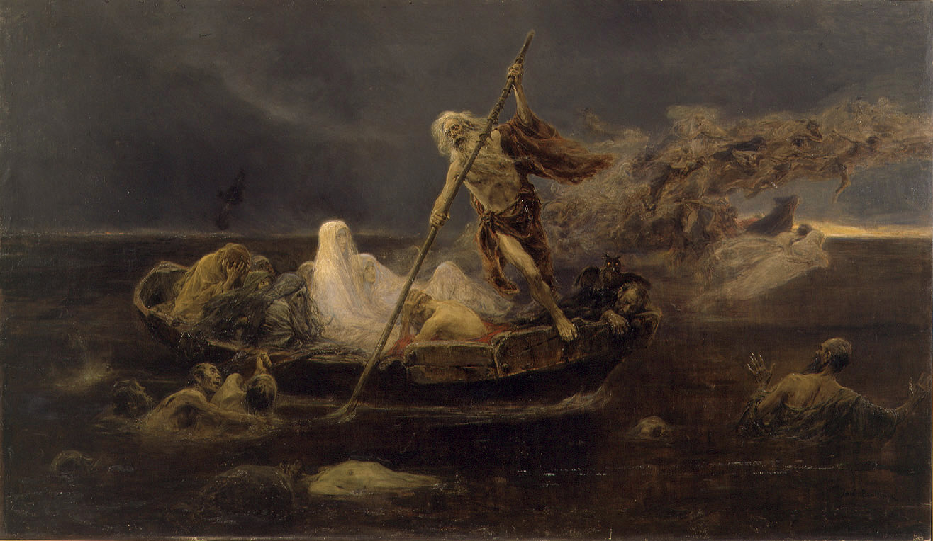 José Benlliure. La barca de Caronte (1919). Valencia, Museo de Bellas Arte