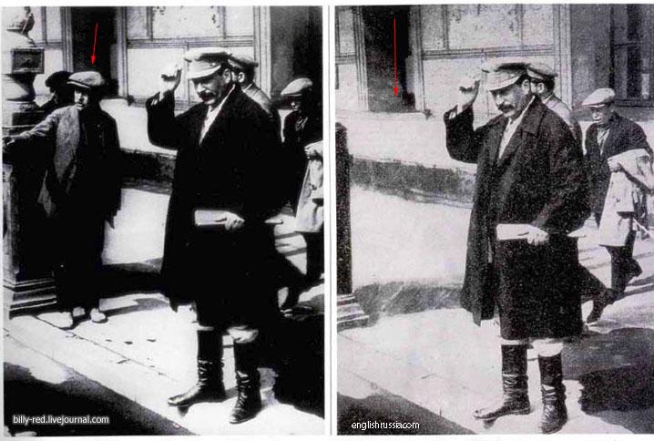 El photoshop en los tiempos de Lenin y Stalin