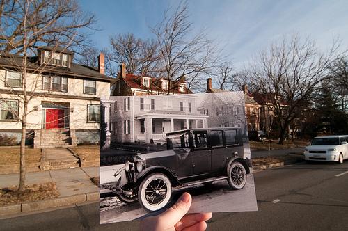 Fotografiando el pasado, en el presente.