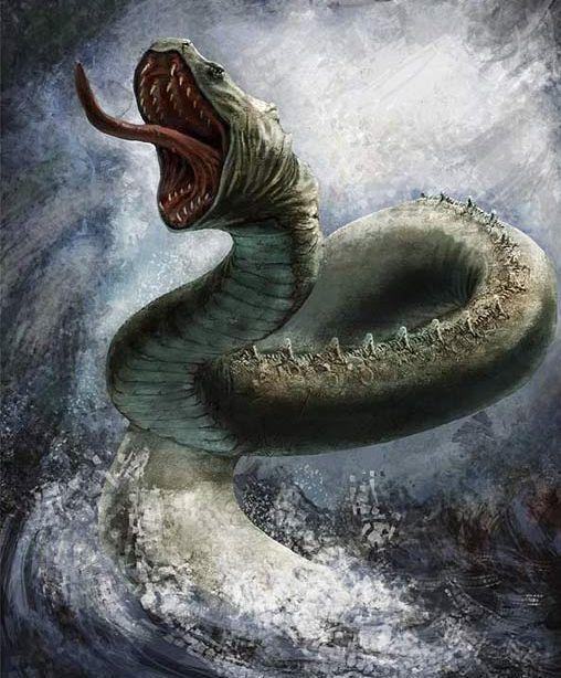 Jormungander, la Serpiente de Midgard y la muerte de Thor, Dios del trueno.