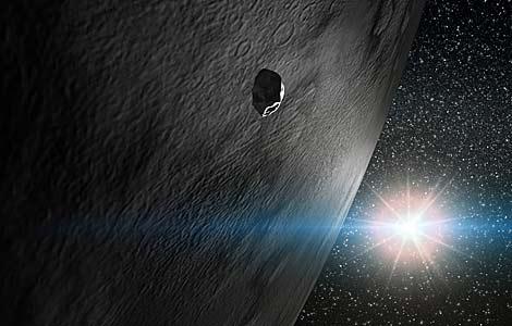 Encuentran agua helada en el asteroide Themis