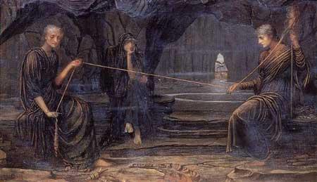 Mitología. Las Moiras y las Parcas, las hilanderas del destino.