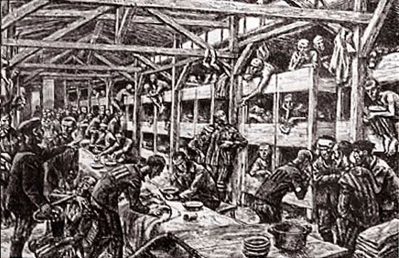 Auschwitz, dibujos del pasado y fotografías del presente.