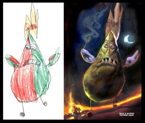 The Monster Engine. Dibujos infantiles interpretados de modo realista.