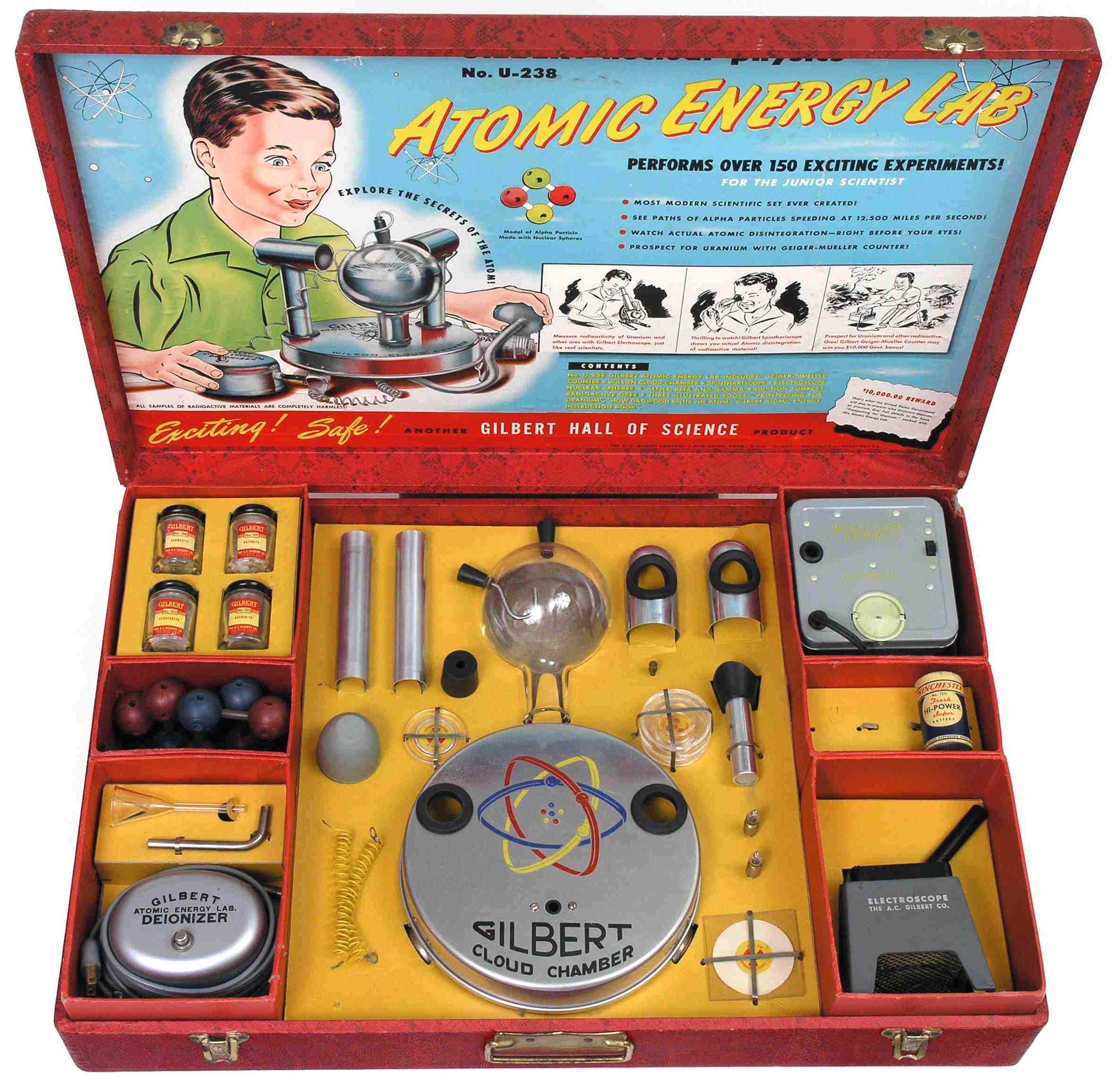 Curiosos juguetes con componentes radiactivos de los años 50.