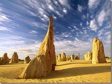 Lugares increíbles. El desierto de los pináculos de Nambung.