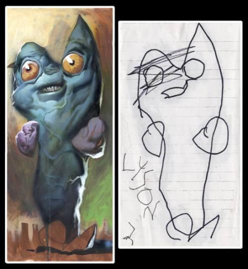 Dibujos infantiles interpretados de modo realista!