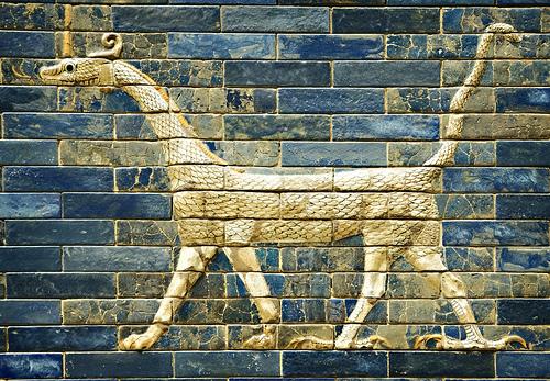 Criaturas mitológicas. El Sirrush de Babilonia.