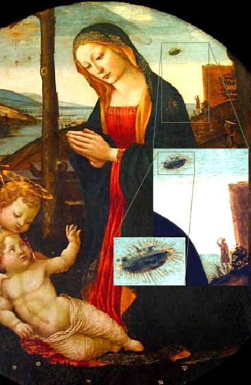 OVNIS en cuadros de la Edad Media