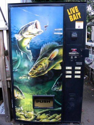 Máquinas expendedoras poco habituales *O* Pesca
