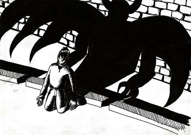 Tejiendo relatos. Demonios en las sombras, por MªJosé.