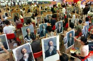 Dafen, la ciudad de los pintores en China.