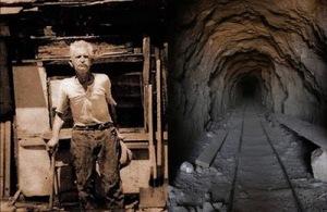 El hombre que excavó un tunel con sus manos y atravesó una montaña.