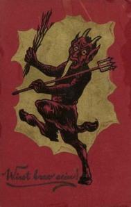 El Krampus, el demonio de la Navidad y sus postales.