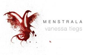 Menstrala, pintando con sangre menstrual.