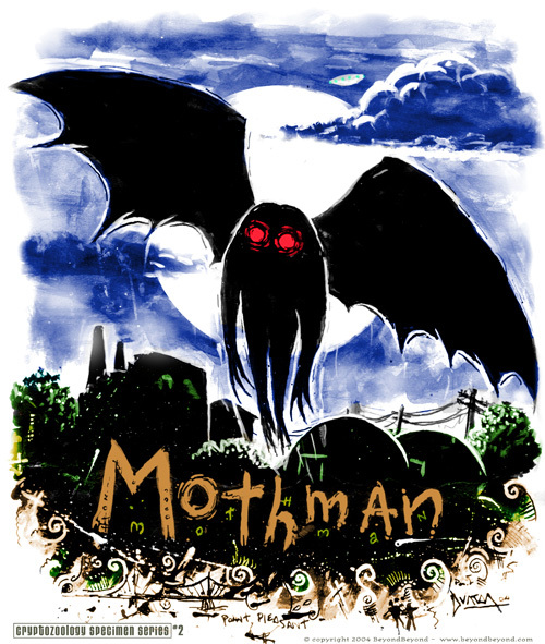 El misterio del Mothman, el hombre polilla.