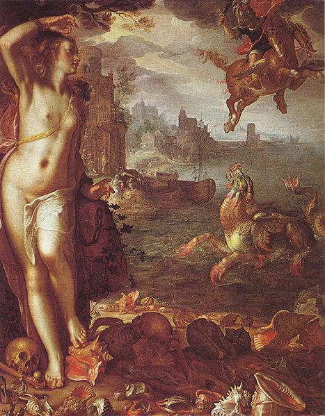 Perseo, Andrómeda y el dragón de Poseidón