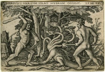 Heracles y la hidra Lernalean
