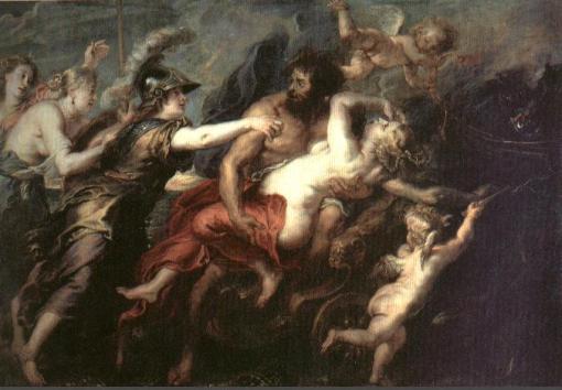 Mitología griega: Hades, el Dios de los muertos.  Rapto-persefone
