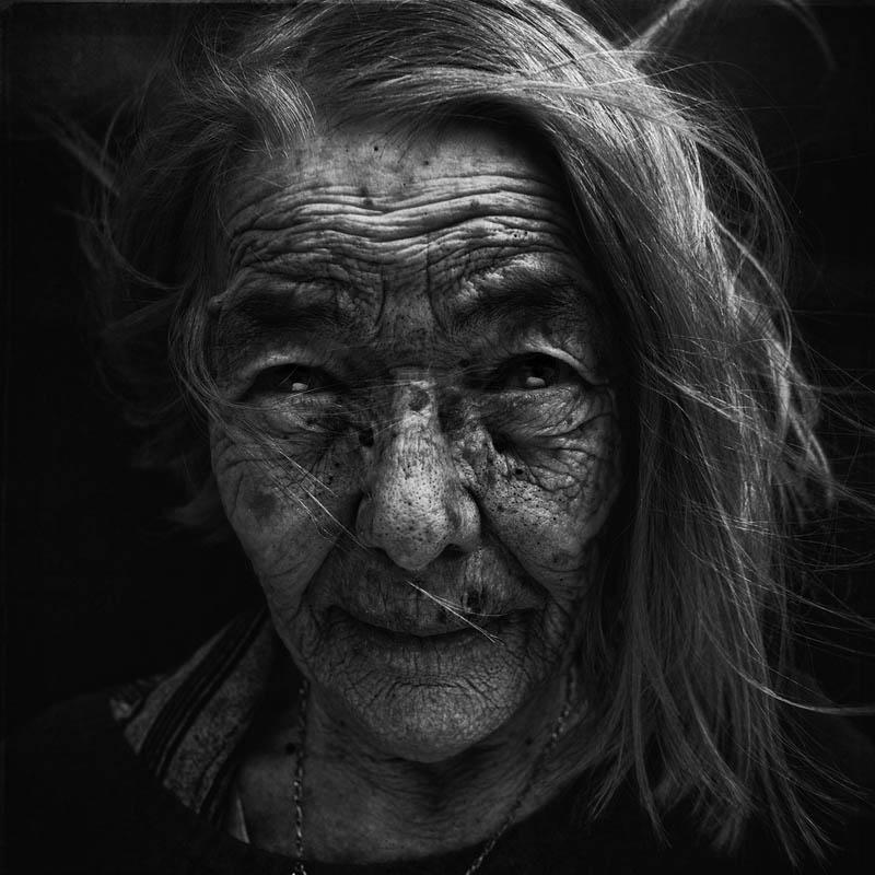 retratos en blanco y negros