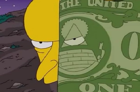 Simpsons burns illuminati