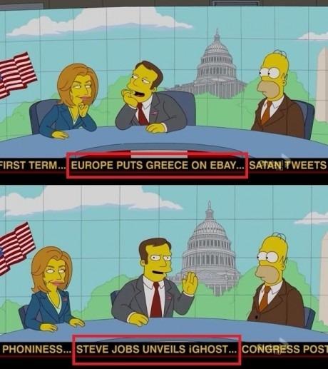simpsons colpaso economia grecia - steve jobs