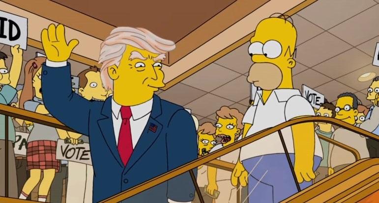 Los Simpson sabían que Donald Trump sería presidente